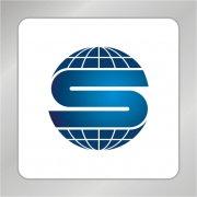 S字母标志 地球仪标志