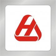 HA字母组合标志 字母三角图形标志