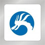 吉祥龙头标志 龙logo