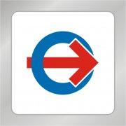 方向箭头标志 红色箭头标志