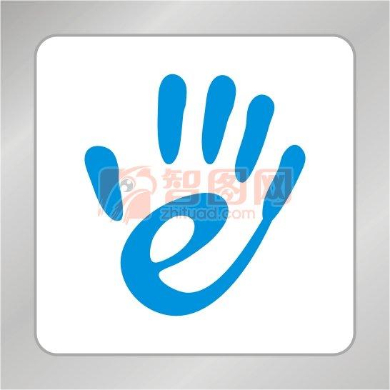 【cdr】发光e字母标志 手掌标志