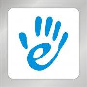 发光e字母标志 手掌标志