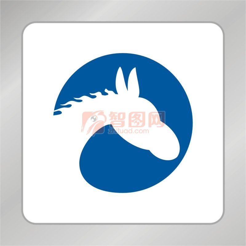 【cdr】骏马标志 马头 小白马
