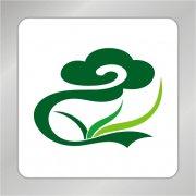 植物标志 农业花草标志 祥云标志