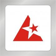 五角星标志 红色五角星