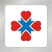 丝带十字状标志 爱心组合标志