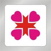 爱心十字标志 爱心组合标志