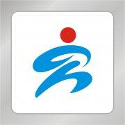 运动会标志 奔跑人物标志