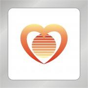 天鹅爱心组合标志 爱心标志