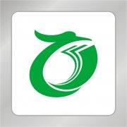 凤凰标志 绿色凤凰O型标志
