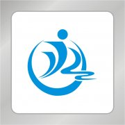 人物运动标志 跑步标志 S型标志