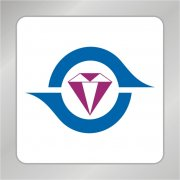 紫色水晶宝石标志 珠宝店logo