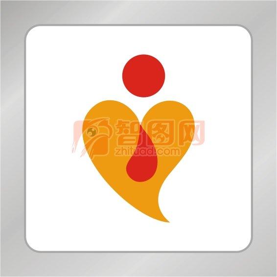 爱心水滴标志 爱心标志