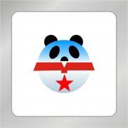 可爱熊猫标志 圆球标志