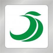 绿色凤凰叶子标志 绿色叶子标志