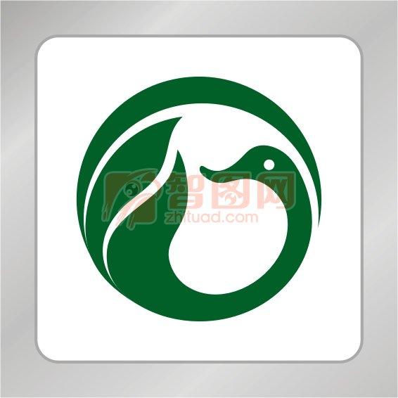 嫦娥标志 鸭子标志 绿叶标志