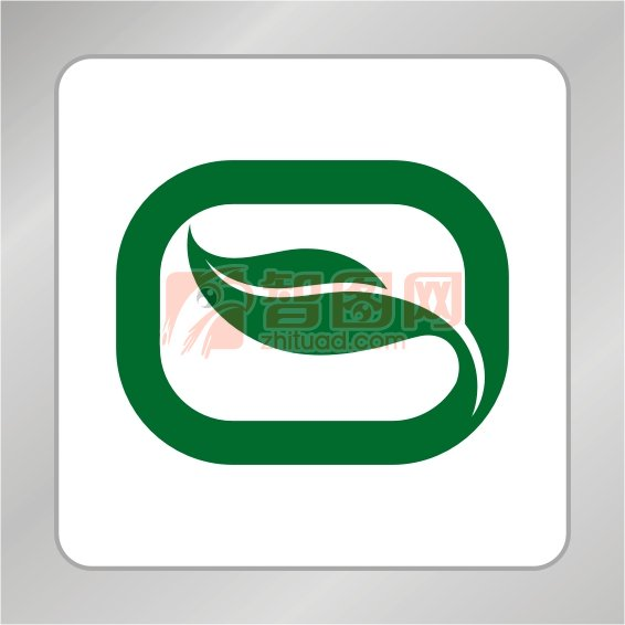 O字母绿叶标志 一片绿叶标志