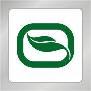 O字母綠葉標志 一片綠葉標志