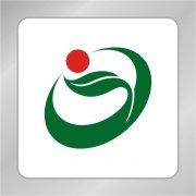 绿色农业标志 绿叶标志 环形logo