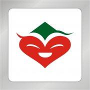 红色笑脸标志 飞翔大雁logo