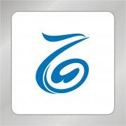 创意凤凰标志 数字6标志