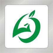 LC字母组合标志 凤凰头标志 绿叶标志