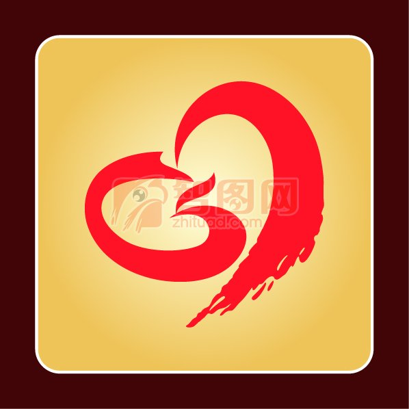 爱心机构标志 凤凰爱心标志