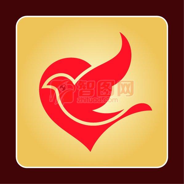 慈善機構標志 愛心飛鴿logo