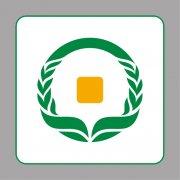 绿色银行标志 货币标志 金融标志