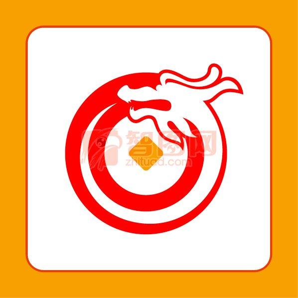 龙古代铜币组合标志