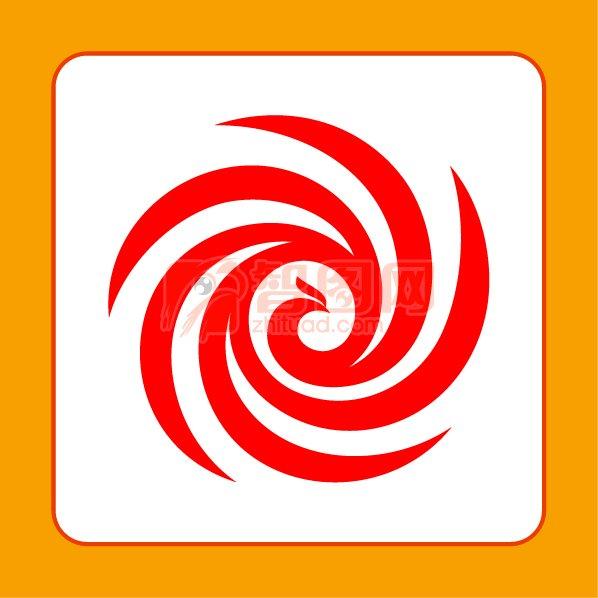 圓圈鳳凰標志 創意鳳凰logo