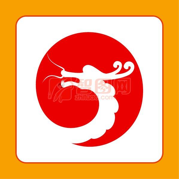 运龙旅游标志 龙头logo