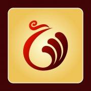 凤凰祥云组合标志 祥云logo