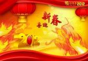 隐形火龙 字体2012 喜迎新春