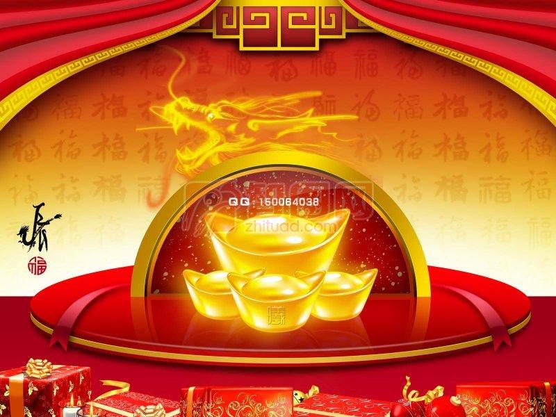 春节龙年海报素材 龙海报