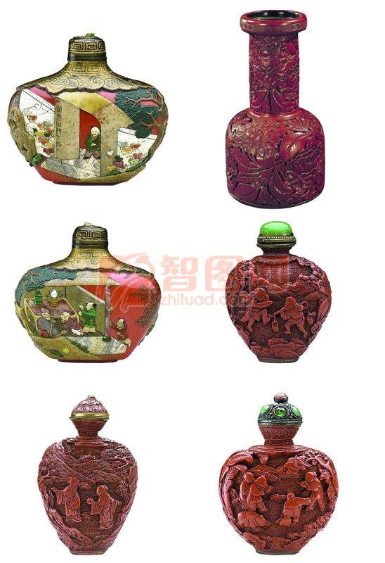 酒瓶雕刻图案包装 古典酒瓶