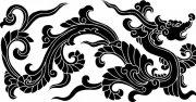 古典雕刻龙 黑色龙
