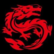 喜庆火红龙 中国红龙