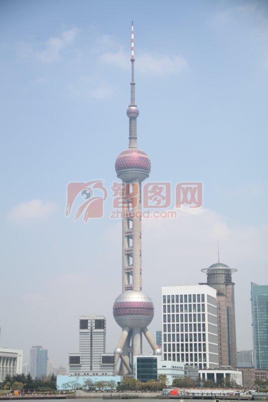 关键词: 高清东方明珠 蓝色天空 现代建筑 城市风景 城市摄影素材 ppt