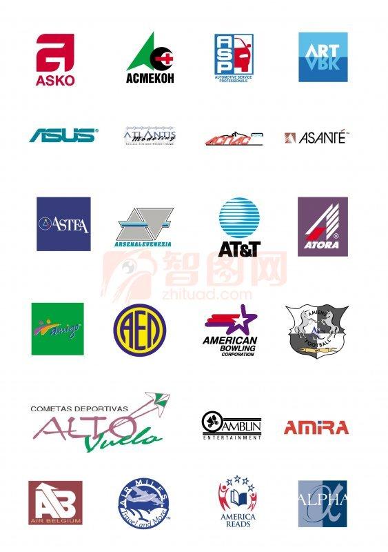 【ai】国外矢量标志 logo 图案; 国外简约logo;
