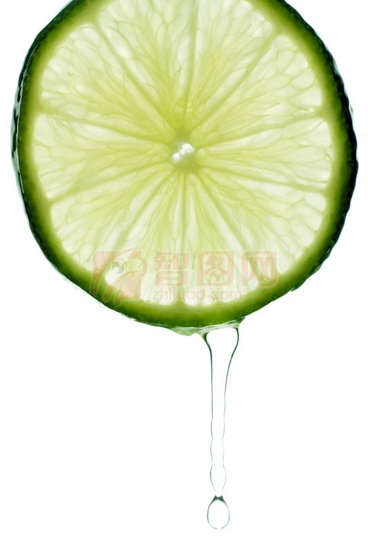 綠色檸檬片元素
