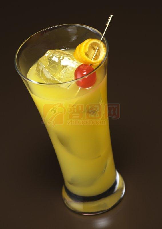 橙汁饮料元素