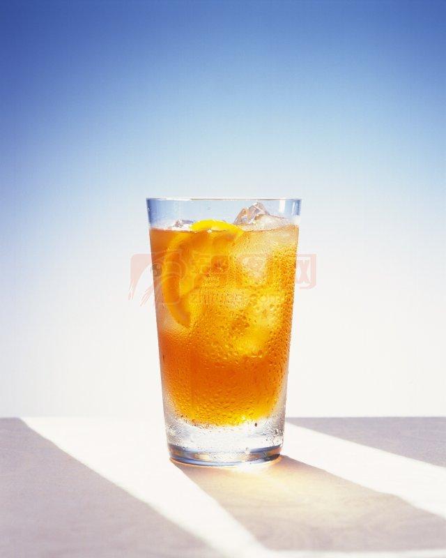 黄色饮料元素