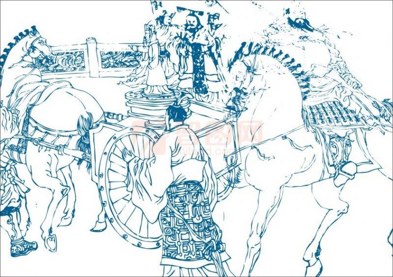 关羽骑马简笔画步骤