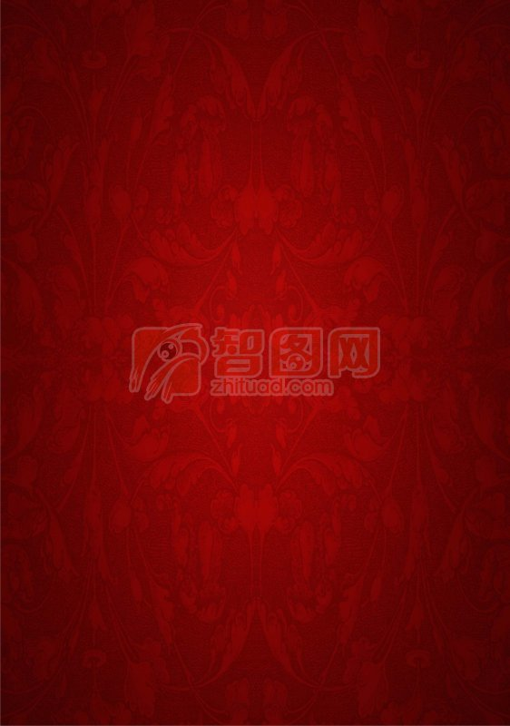 【cdr】红色花纹背景