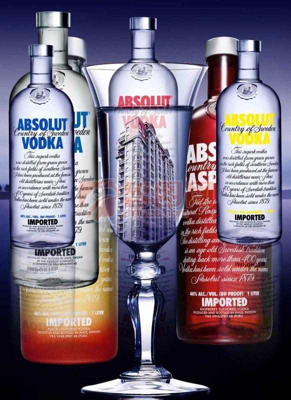 酒瓶分層素材