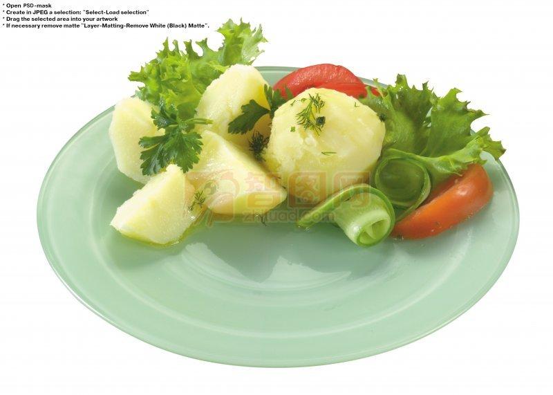 蔬菜盘子简笔画