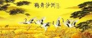 中国风水墨画分层装饰画