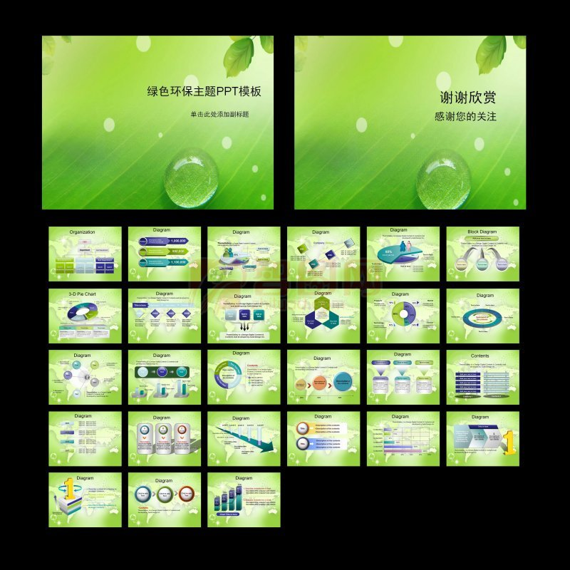綠色環保PPT模板