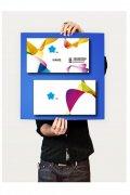 炫丽色彩艺术设计名片模板